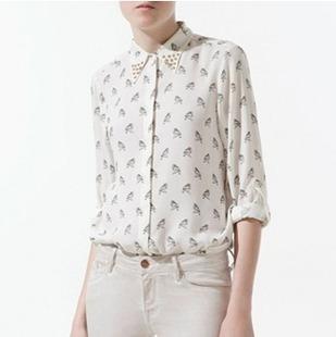 Fashion wilde chiffon overhemd